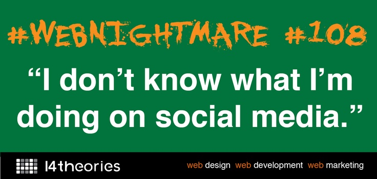 Wake up from #webnightmare #108 by reading our latest blog via @14Theories