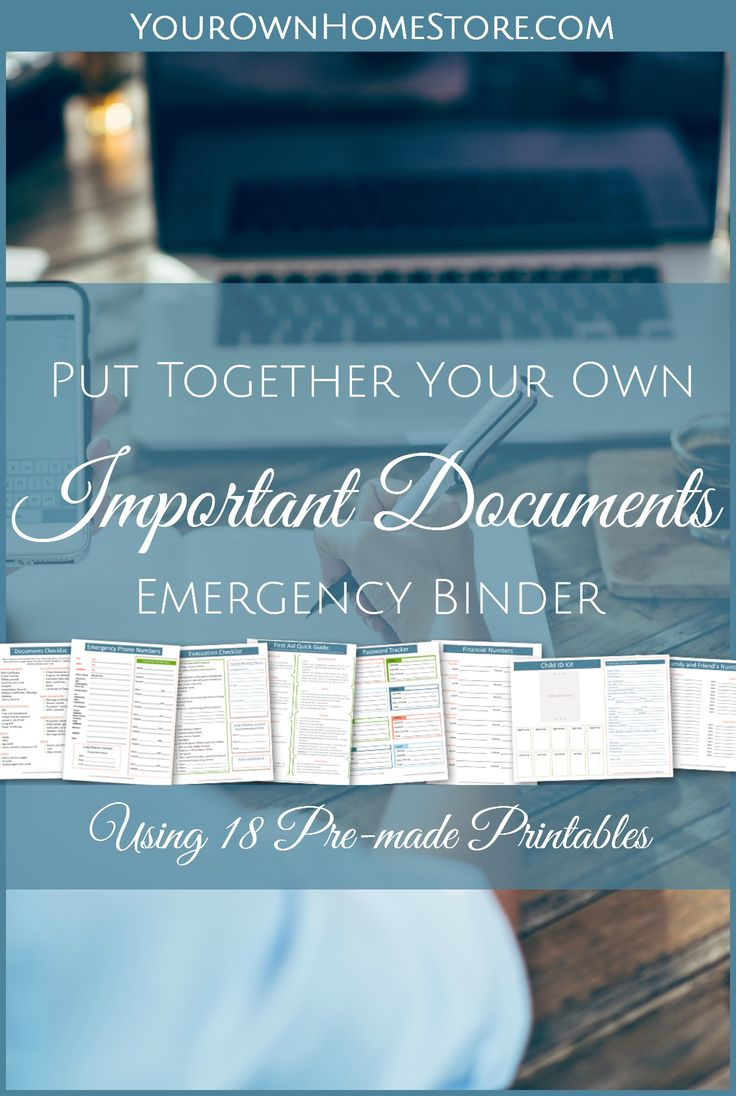 Get 18 Free Emergency Binder Printables   Important Documents Folder   Grab and Go Binder