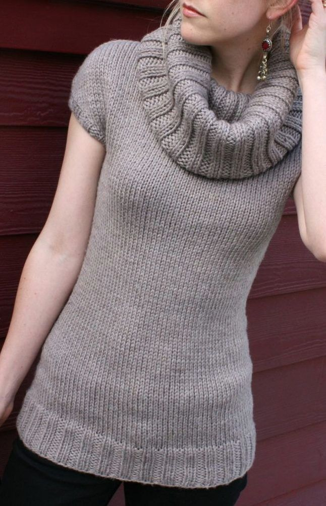 Tunic Sweater Knitting Pattern : 255 best images about Sweater Knitting Patterns on Pinterest Quick knits, C...