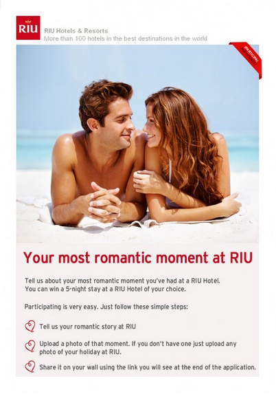 Do you want to win a romantic getaway in RIU? Repin this post and enter our Valentine's Day giveaway here: http://apps.facebook.com/riu-promos/promotions/2825  #contest #win #valentines #riuhotels