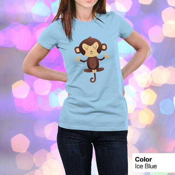 ChimpanZEN Cute Animal Yoga Puns Kawaii T Shirt t #cute #funny #puns #nerd #geek #tshirts #adorable #kawaii #cartoons #zen #relax #yoga #animals #monkey #tees #giftideas