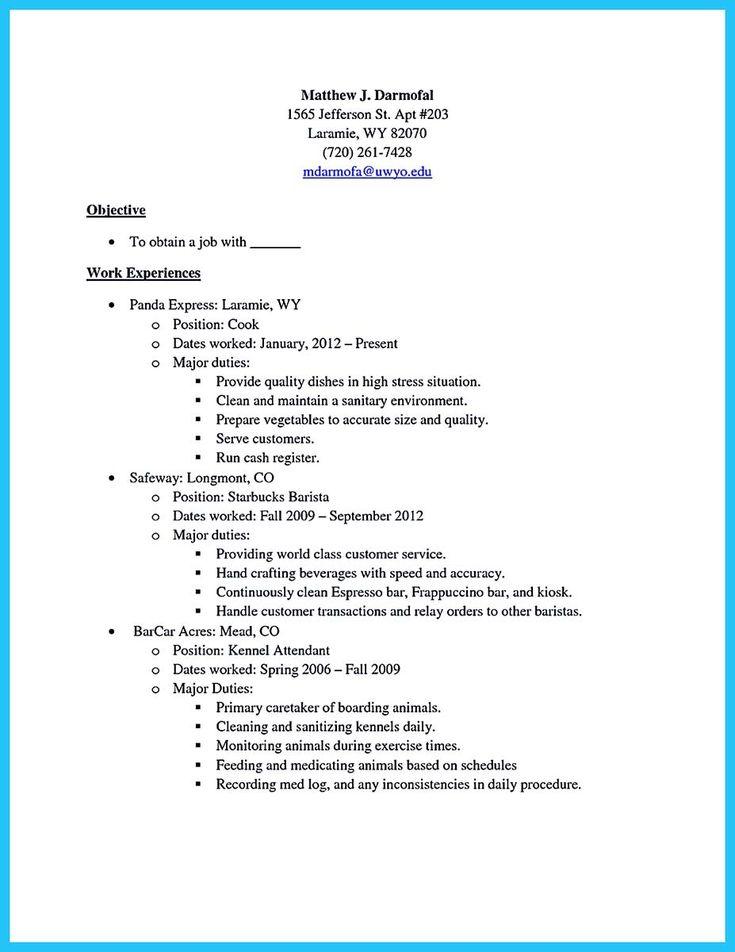free barista resume template