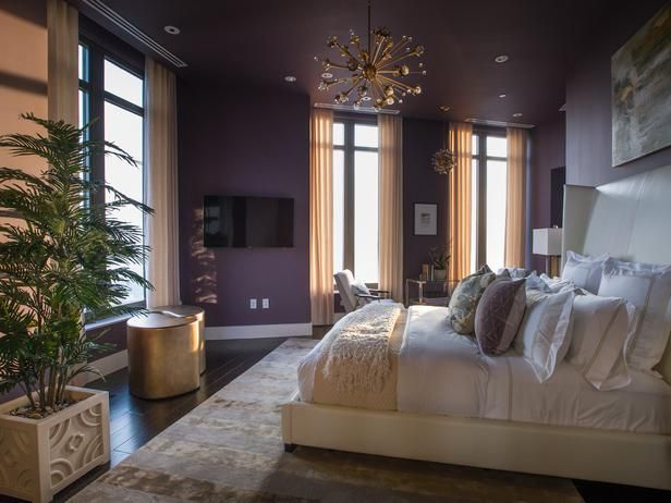 Master Bedroom Pictures From Hgtv Urban Oasis 2014 Pictures Hue And Purple Walls