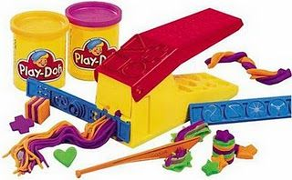 Play doh spaghetti factory - I hated when the colors got mixed. And there was always some that I missed when leaning up, so I would have the dried pieces in my new spaghetti. :(