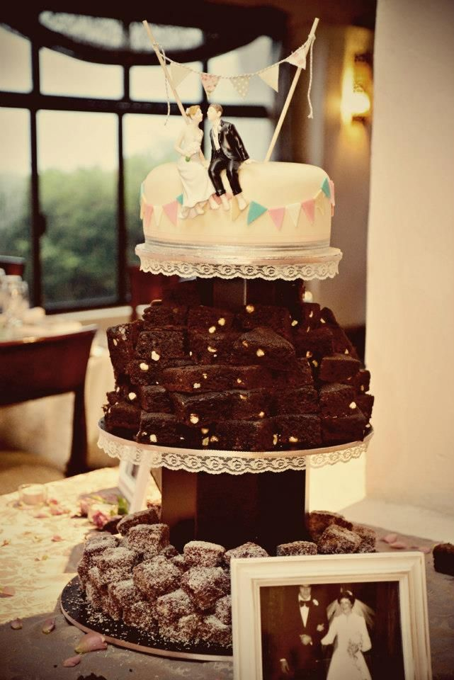 33 Best Images About Brownie Wedding Cake On Pinterest