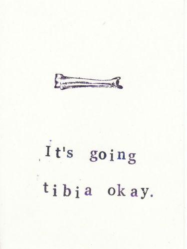 Funny Anatomy Get Well Soon Card: Tibia | Meylah