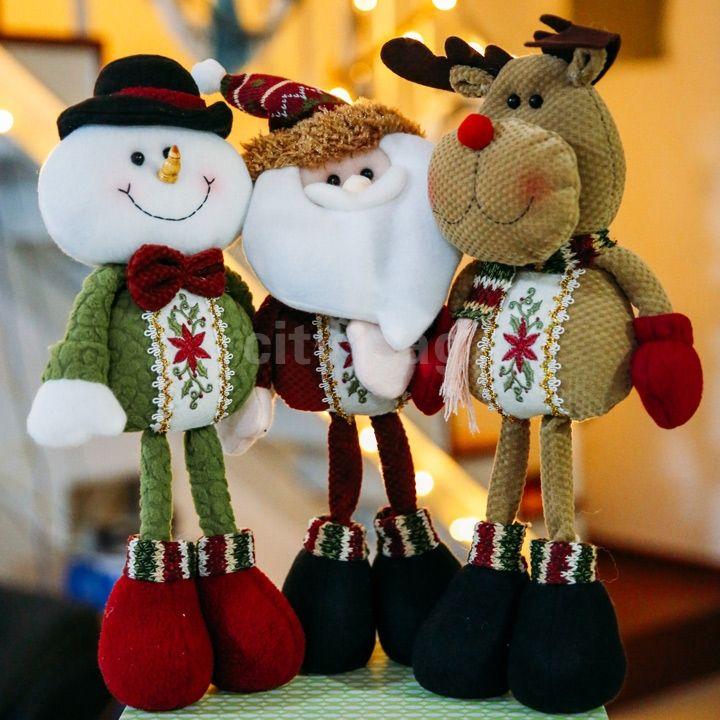 Cheap Nueva decoración de la navidad encantador lindo reno de papá noel muñeco…