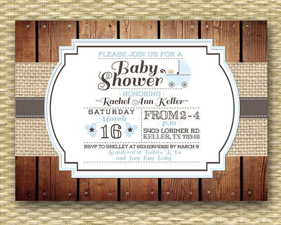 CoolNew Create Easy Country Baby Shower Invitations