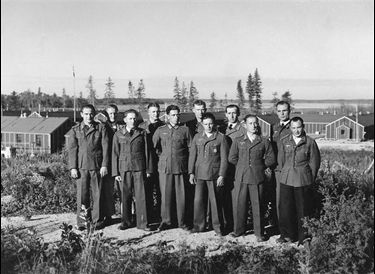German prisoners at POW camp in Riding Mountain National Park, Manitoba (WW2)
