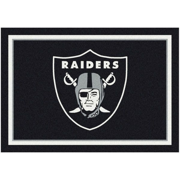 "Oakland Raiders 92"" x 129"" Spirit Rug - $449.99"
