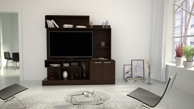 Fabricados totalmente con melamina texturada de 18mm de espesor, estos muebles fueron diseñados con la finalidad de que puedan incluir un Led TV de hasta 60''. Además, incluyen terminaciones delicadas, herrajes metálicos, filos de PVC y pasacables ocultos. Estos diseños están inspirados en la calidez y simpleza de la veta de la madera.