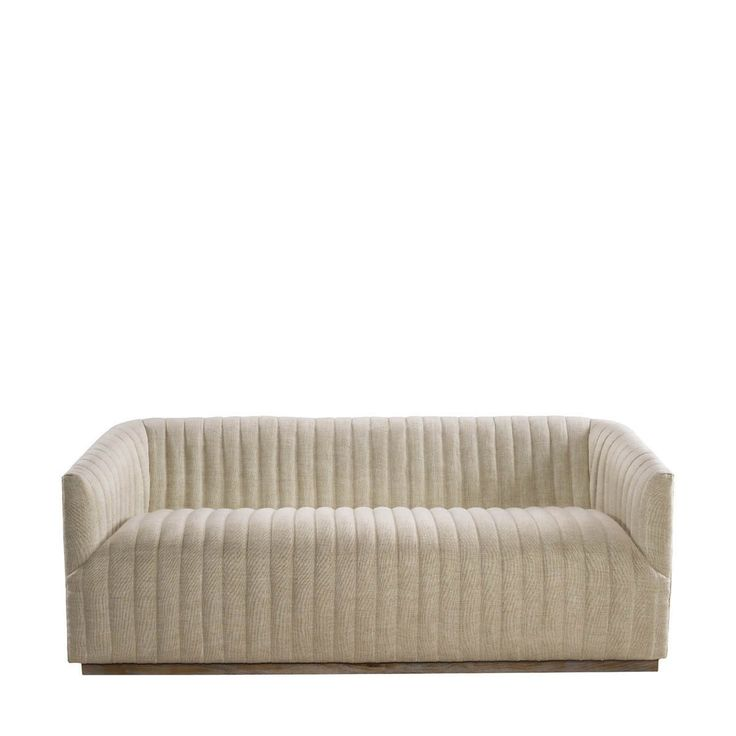 Curations Limited Sete Strip Linen Sofa   Vegan Material