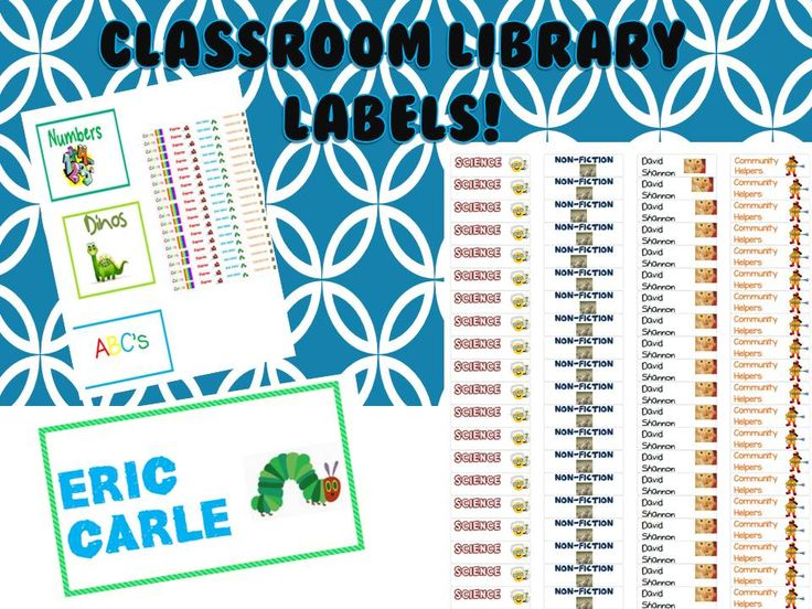 Fun and colorful labels for your library!
