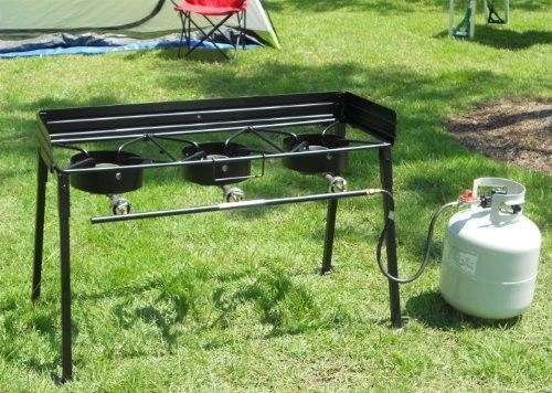 Outdoor Cooker Portable Propane Triple Burner Outdoor Camp Stove Deep Fryer New #OutdoorCooker #CampStove