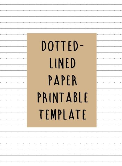 DOTTED-LINED PAPER TEMPLATE FOR $1 EACH! in A4, A5, A6, and Letter