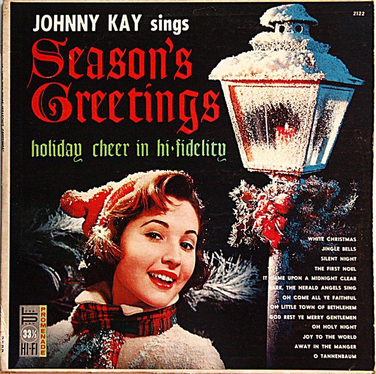 """Vintage Christmas album: Johnny Kay Sings """"Season's Greetings""""  Vinyl LP by MusicAndMuse on Etsy"""