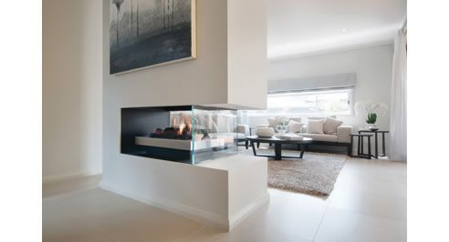 Real Flame #double sided gas fireplace