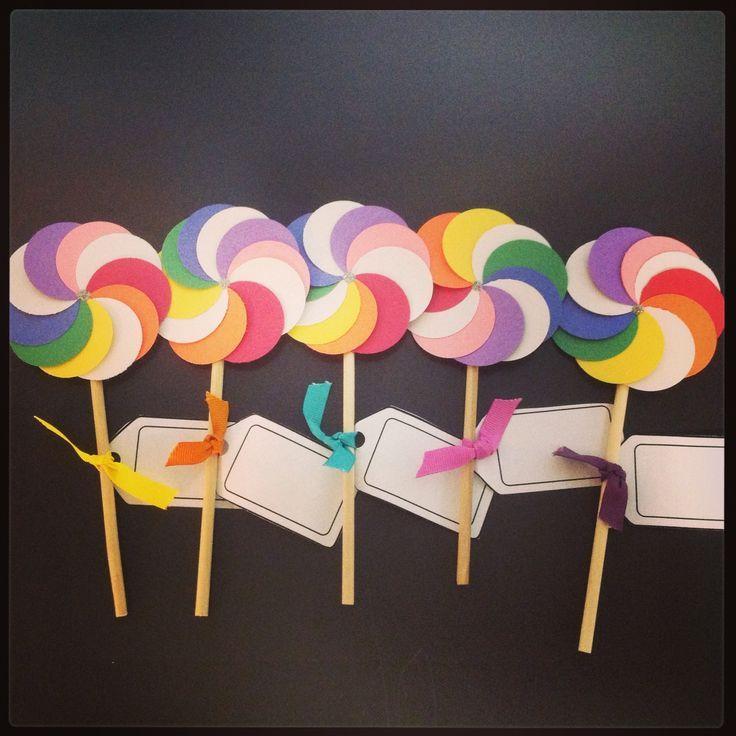 Lollipop door decs
