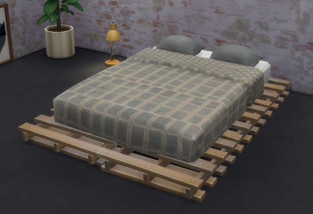 Sims 4 CC's - The Best: Pallet Bed Frame and Mattress by Gatochwegchristel...