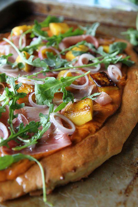 Pumpkin, Prosciutto and Arugula Pizza