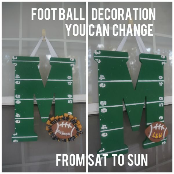 football-door-decoration-for-multiple-teams Tombow Fastener Tabs would be perfect for this project! Pinned for Electric Football by Tudor Games #electricfootball #tudorgames