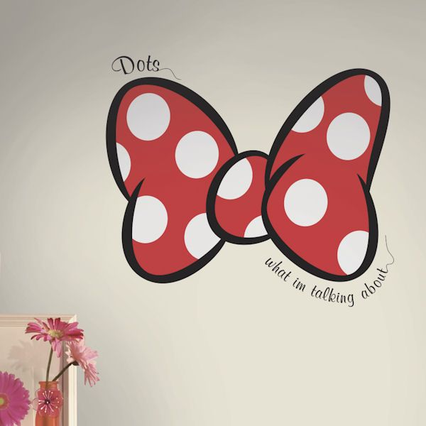 Minnie Dots What Im Talking About Giant Wall Decal   Wall Sticker, Mural, U0026  Decal Designs At Wall Sticker Outlet