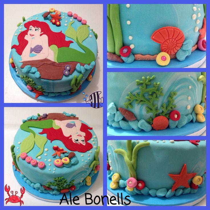 Mermaid cake // Torta de La Sirenita #mermaid #sirenita #cake #cumpleaños #torta