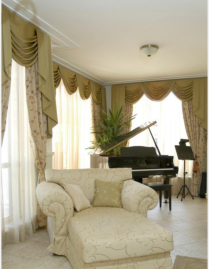 decorating a piano room design ideas pictures remodel and decor - Mediterranean Living Room 2015