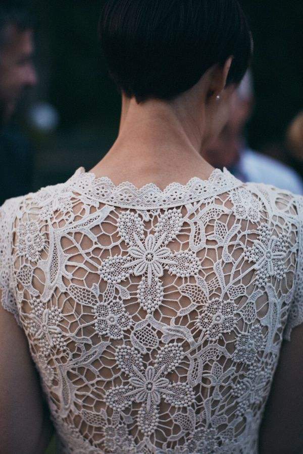 lace wedding back // photo by A Couple of Night Owls // dress by Trelise Cooper