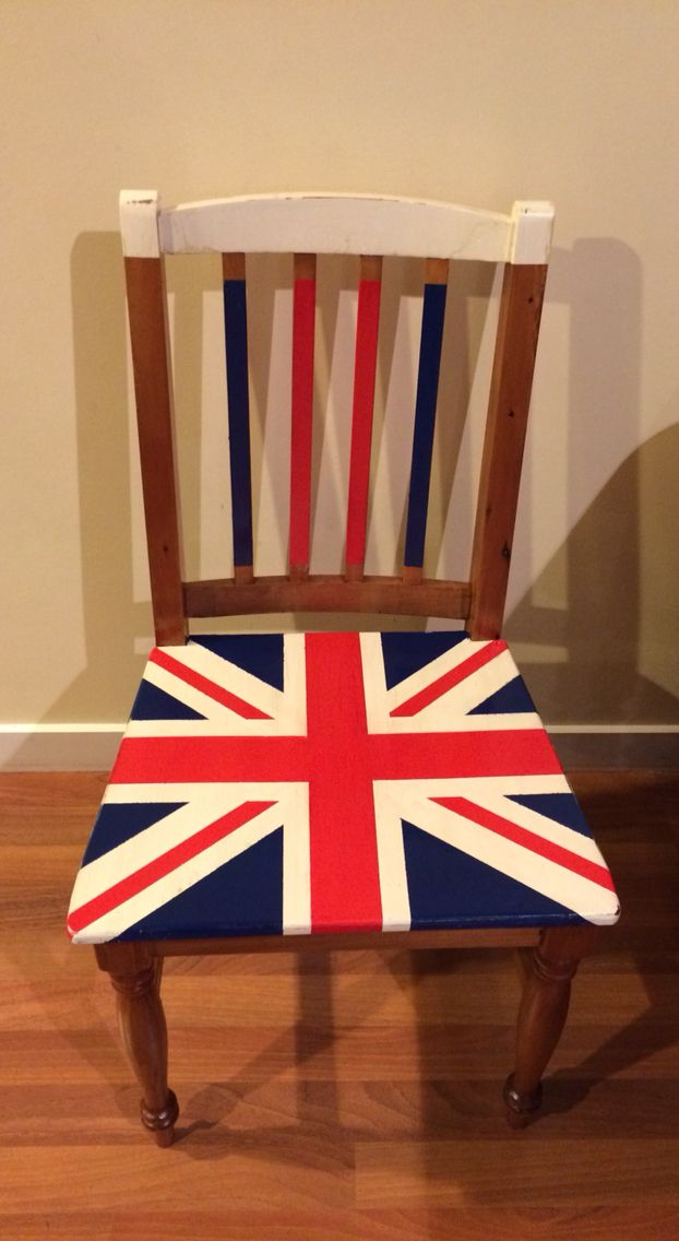 Painted Union Jack chair