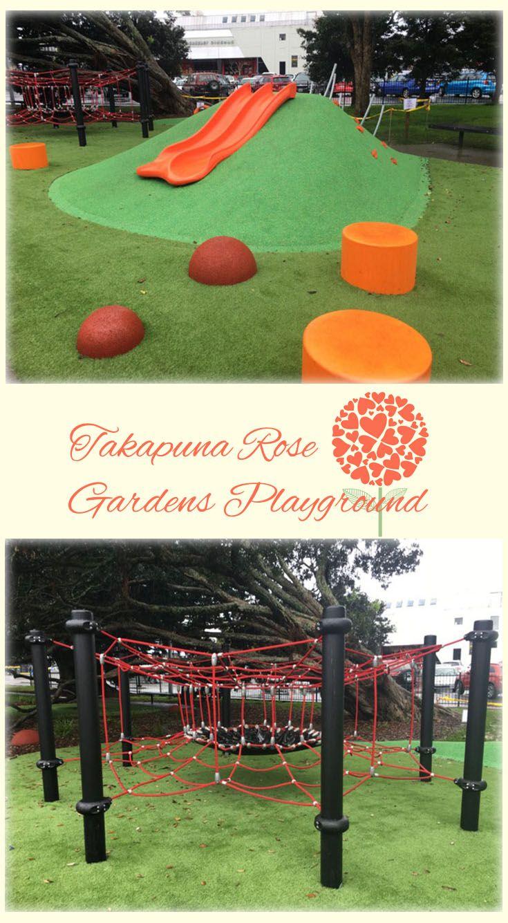 Takapuna Rose Gardens Playground Auckland: Newly Renovated Playground. Modern and Fun! Right Next to Shore City Mall!
