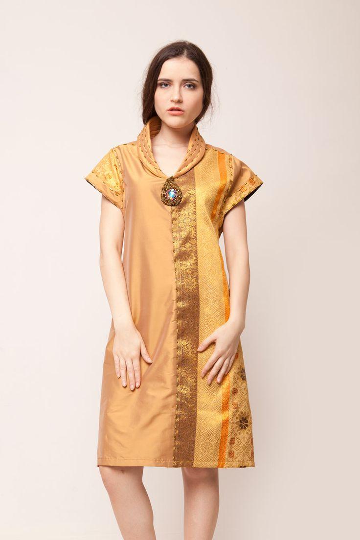 Gold Songket Dress