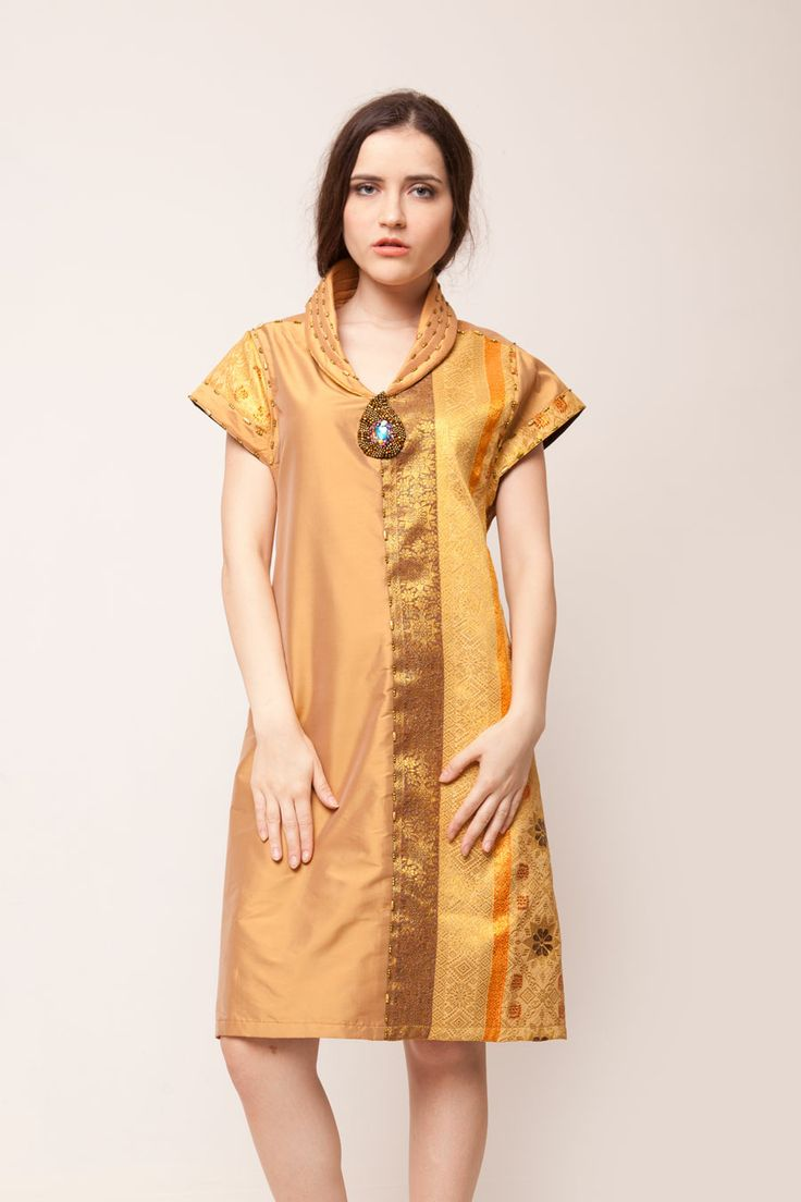 Gold Songket Dress