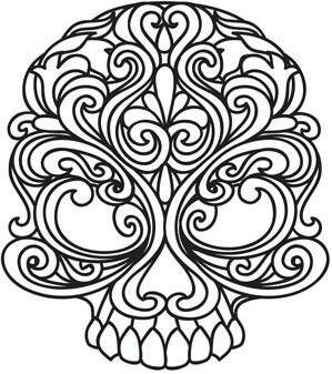 Ornate skull