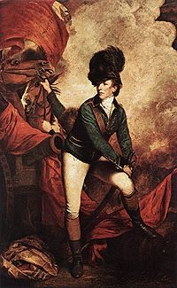 General Sir Banastre Tarleton, 1st Baronet, GCB (21 August 1754 – 15 January 1833) - much maligned for his part (on the British side) in the American Revolutionary war; a career officer. The love of Perdita Robinson's life. Fabulous in those thigh tight breeches and boots!