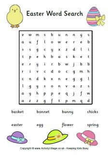 Simple word search with just the right amount of Easter vocab for young EFL / ESL Learners.