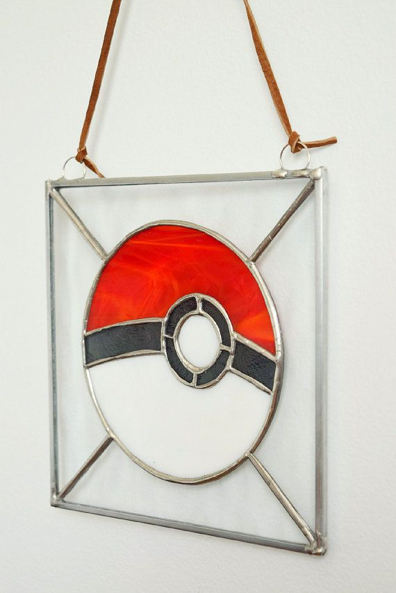 Stained Glass Pokeball by AdoniDesigns on Etsy