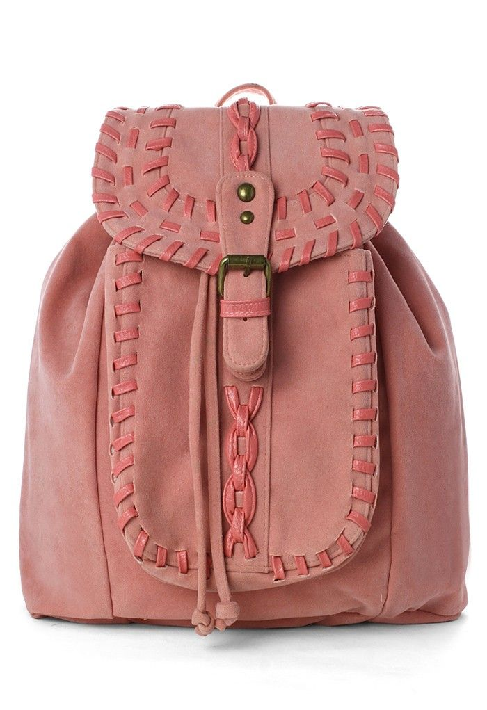 Chicwish Pink Knit Backpack ~Chicwish $59.90 http://www.chicwish.com/chicwish-pink-knit-backpack.html