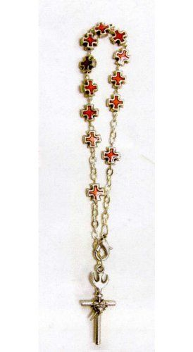 Confirmation Bracelet with Red Crosses - MADE IN ITALY Religious - Bracelets. $15.75. Confirmation Bracelet. MADE IN ITALY. Red Crosses
