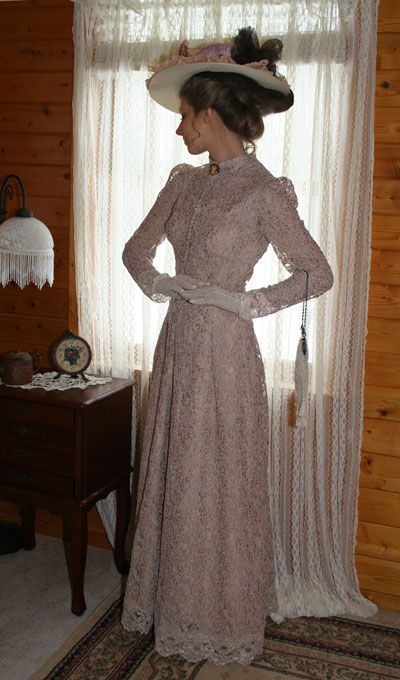 Recollections Antique Dusk Gown Edwardian Era Clothing