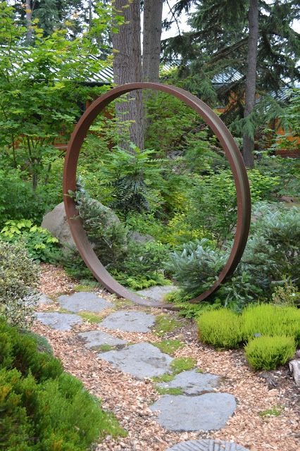 A moon gate would make a great entrance to the garden.