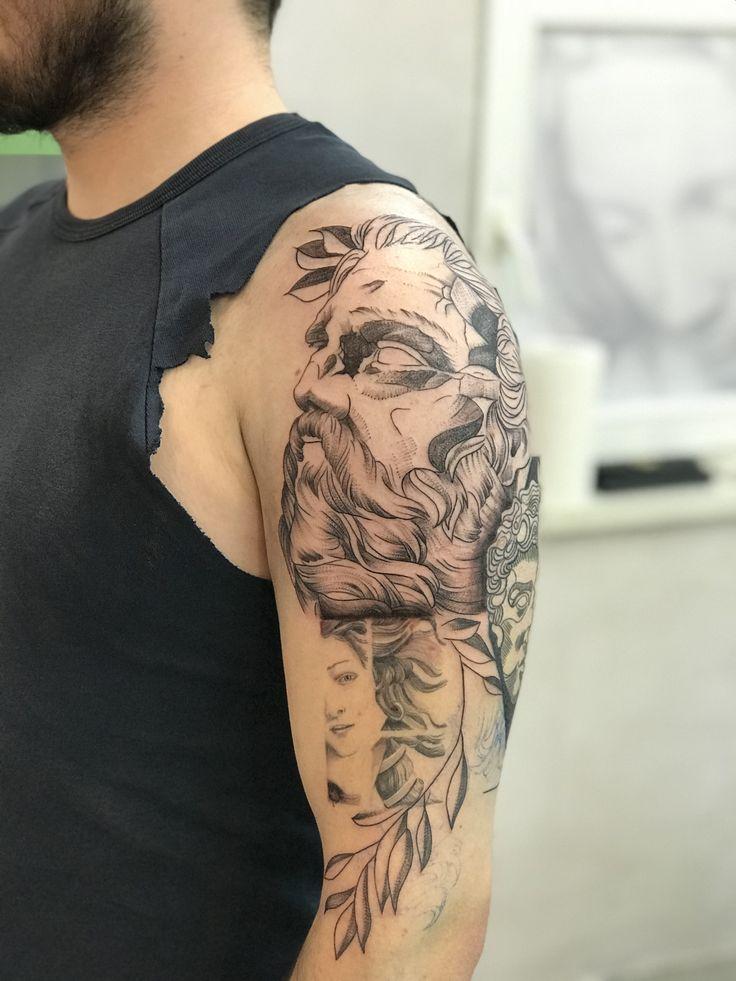 Venus  Boticelli  Tattoo art  Art tattoo  Line  Linework  Zeus  Dotwork  Arm tattoo  Minimal venus Mythology