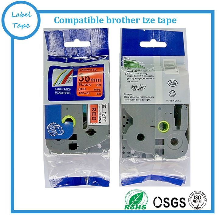 Free shipping 5 pcs Compatible brother 36mm TZE tape TZ-461 tze461 tz461 tze 461 black on red label printer tape maker