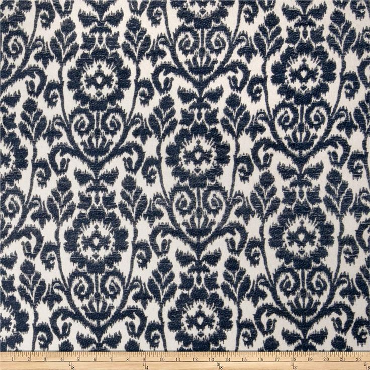 Trend 2389 Chenille Navy from @fabricdotcom  This lovely chenille fabric is  perfect for valences, toss pillows, and upholstery projects like ottomans and headboards.