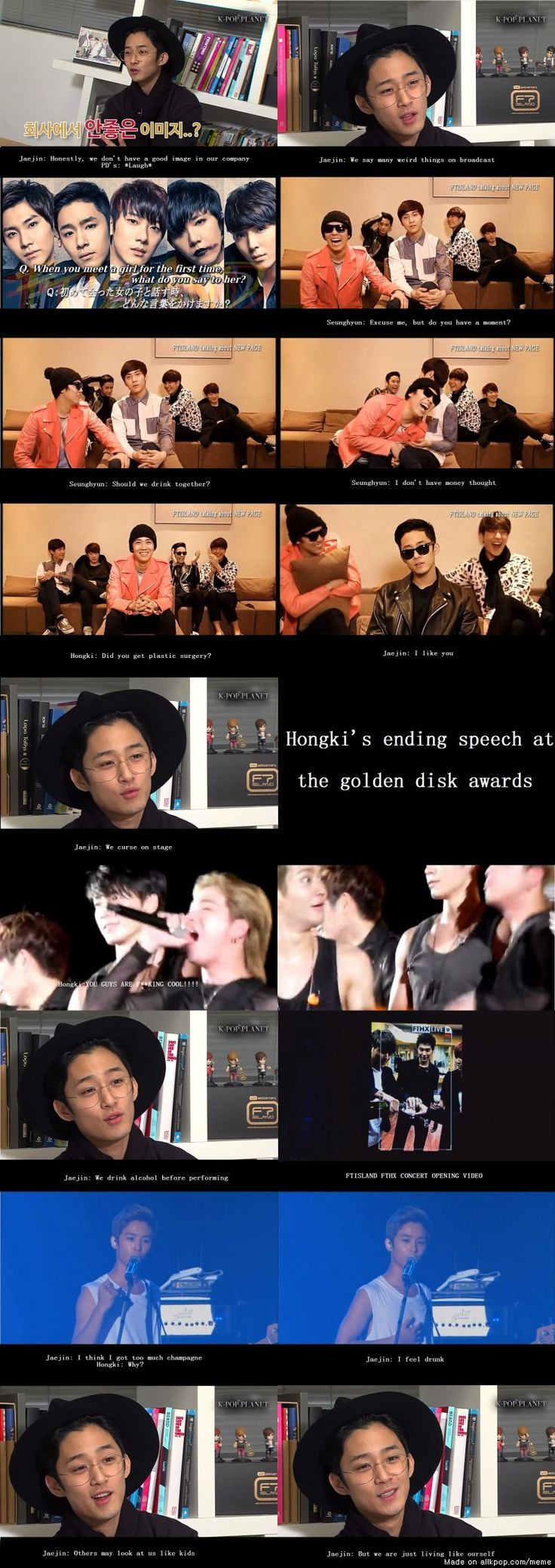 And this is why we love FTISLAND! | allkpop Meme Center (Siwon's face tho)