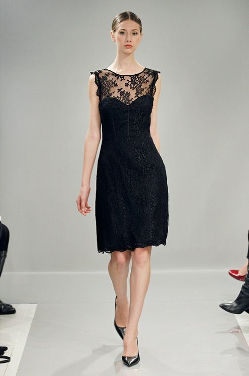 Black lace dress for bridesmaids from Monique Lhuillier Bridesmaids, Fall 2013