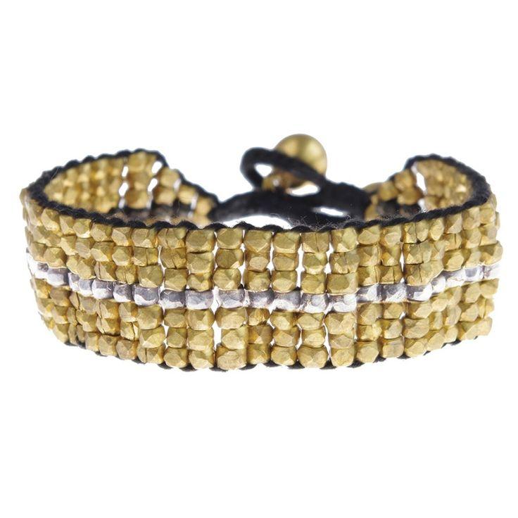 A Beautiful Story sieraden | Studio Art Styles  | Armband | Azra Golden bracelet | handcut beads in a beautiful setting