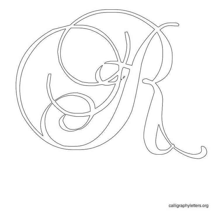 Printable Calligraphy Letter Stencils | Calligraphy Letters Org