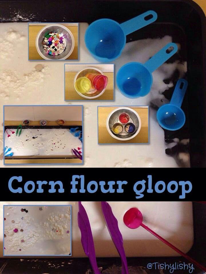Cornflour gloop