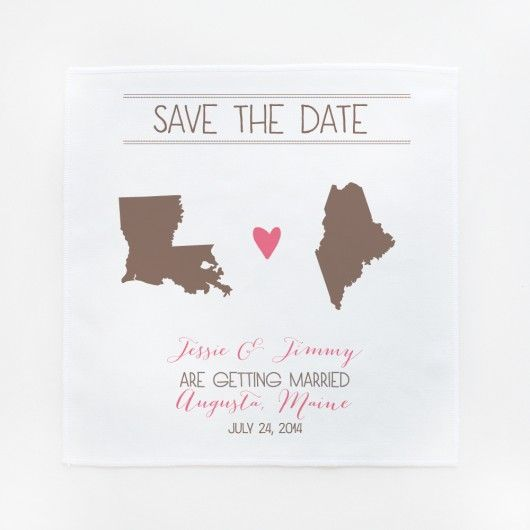 our roots save the date hankies